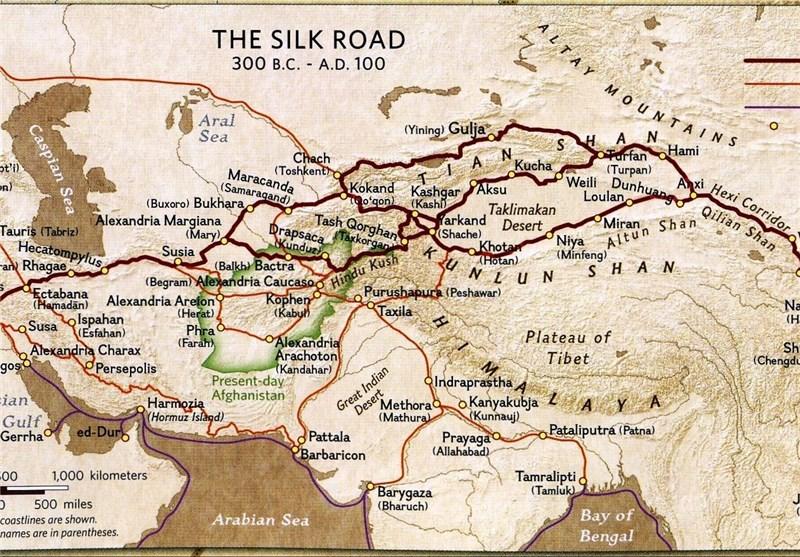 جاده باستانی ابریشم از شرق آسیا تا قلب اروپا