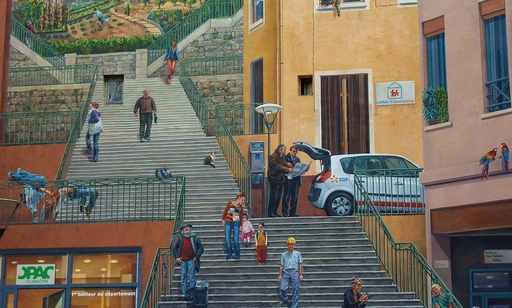 شهر نقاشی های دیواری | جاذبه های گردشگری و هنری فرانسه لیون