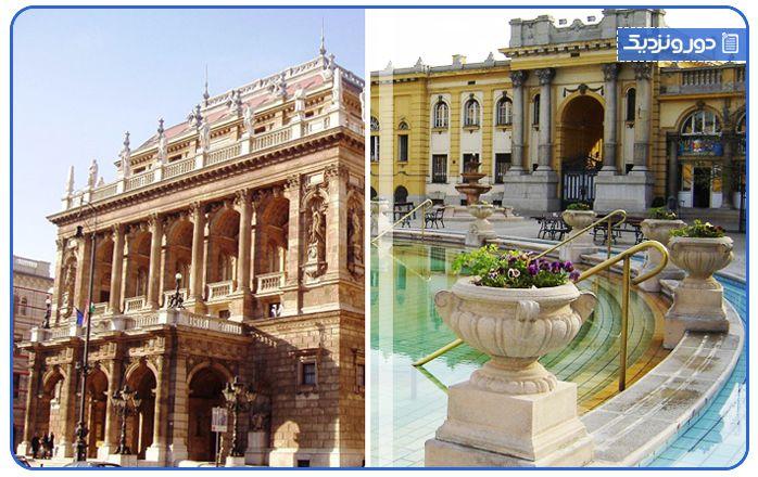 جاذبه های گردشگری بوداپست ؛حمام های سیچینی