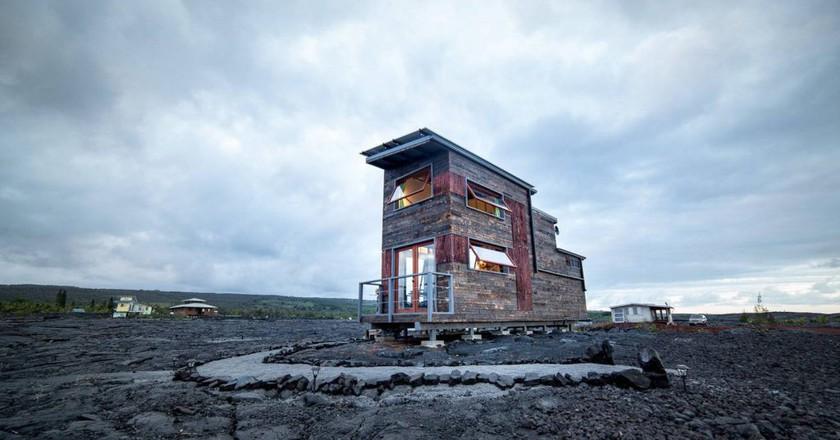 خانه ای بر روی آتشفشان