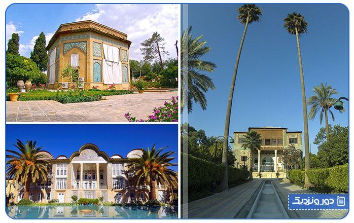 باغ های شیراز از زیباترین جاذبه های توریستی شیراز
