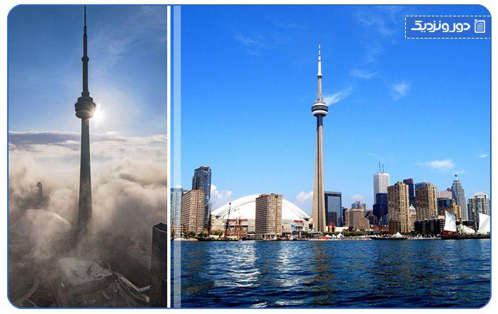 در جاذبه های گردشگری تورنتو برج CN بی نظیر است