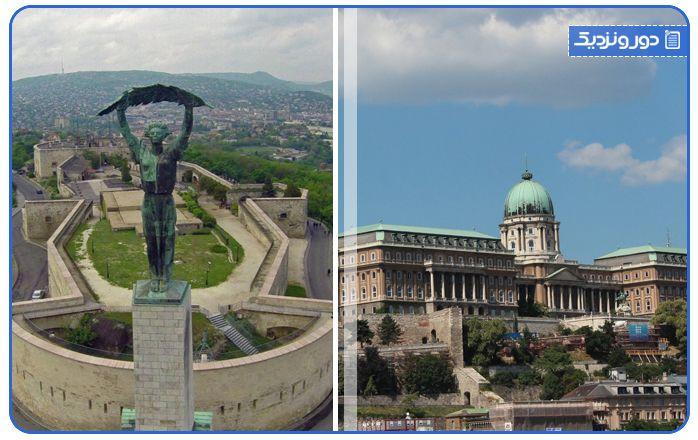 تپه گلرت از مکان های تفریحی بوداپست