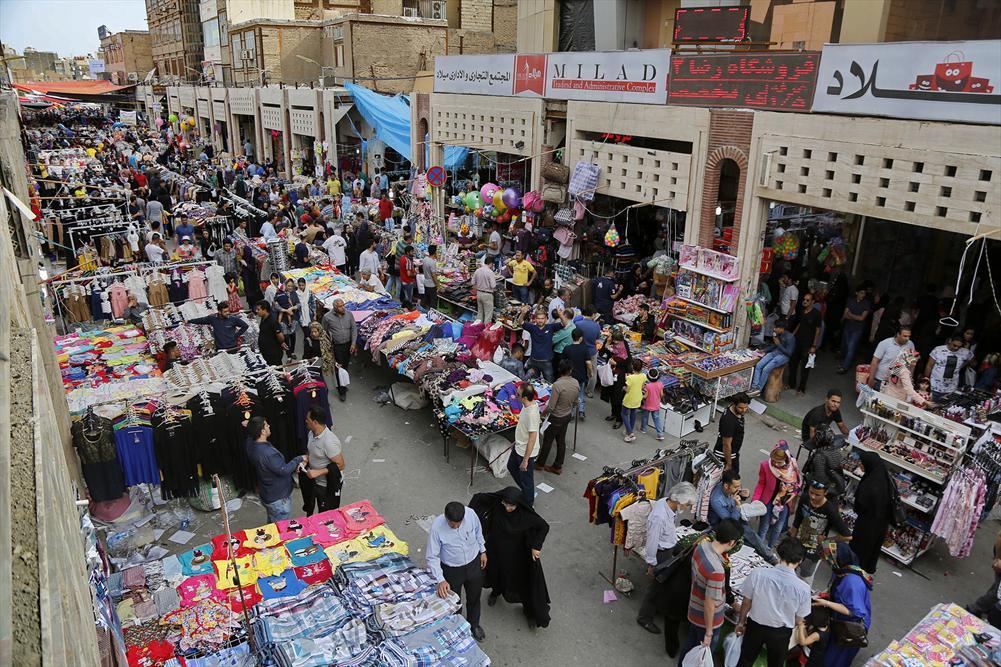 بازار ته لنجی از جاذبه های گردشگری آبادان