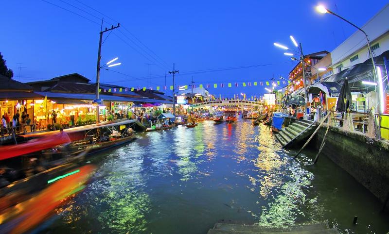 بازار شناور آمفاوا از بازارهای شناور بانکوک