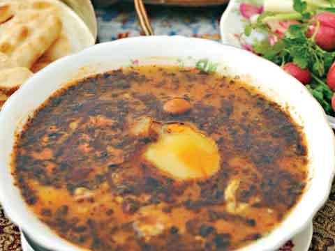 انواع آبگوشت ها از غذاهای کرمان