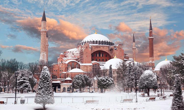 نمای دیدنی استانبول در زمستان
