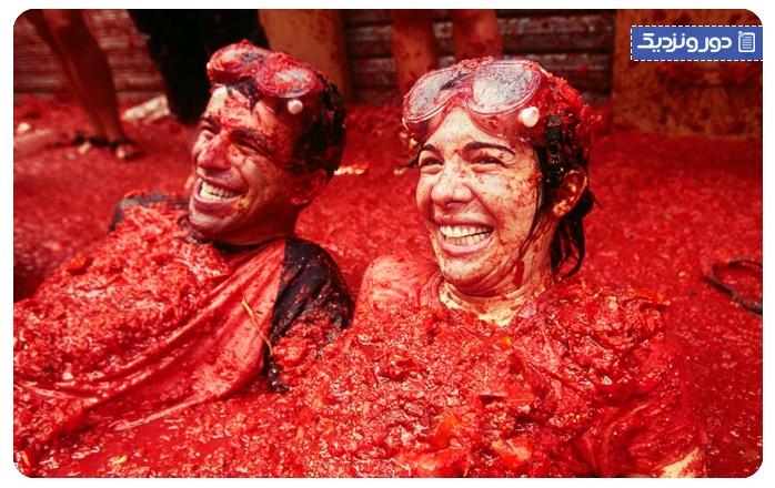 جشنواره گوجه فرنگی (لاتوماتینا) اسپانیا