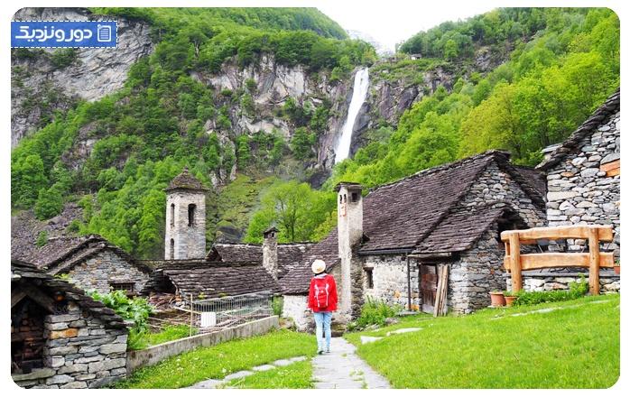 آبشار فورگولیو - تیچینو - سفر به سوئیس