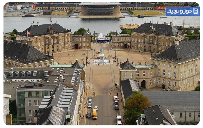جاذبه های دانمارک کاخ امالینبورگ