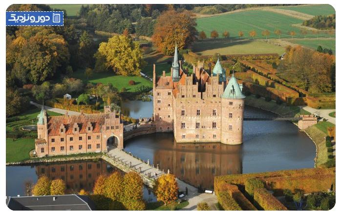 جاذبه های دانمارک قلعه اگسکوف