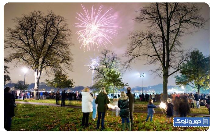جشن های انگلستان ، آتش بازی