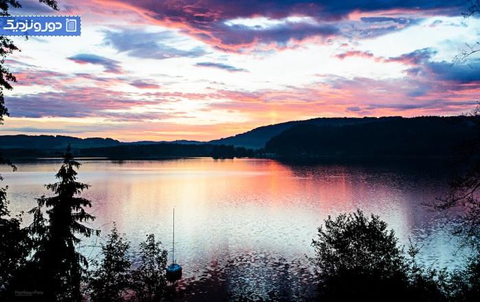 زیباترین دریاچه مونیخ آلمان - آلپ