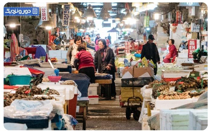 سفر به سئول کره جنوبی بازار ماهی سئول