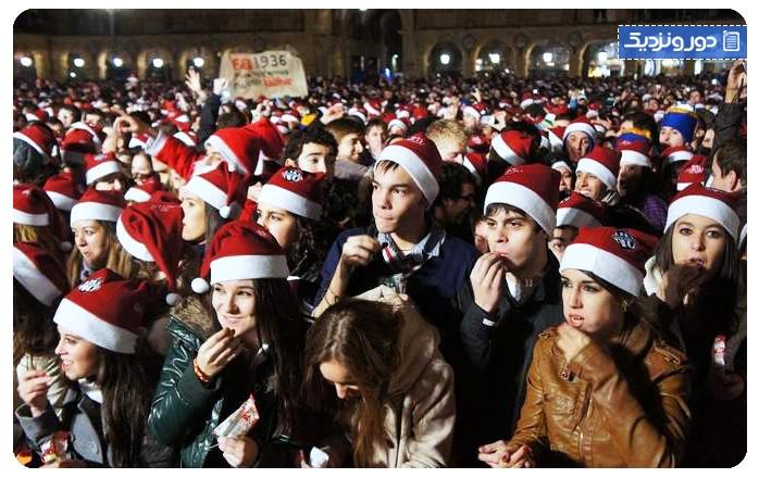 رسم و رسومات سال نو در اسپانیا مردم اسپانیا