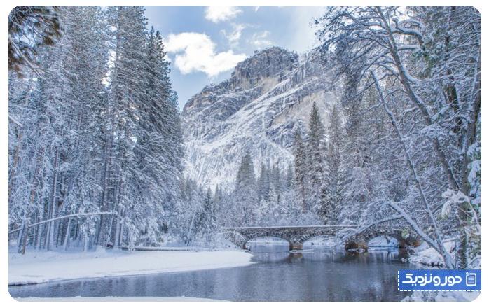 واندرلند زمستانی پارک ملی یوسمیتی، آمریکا