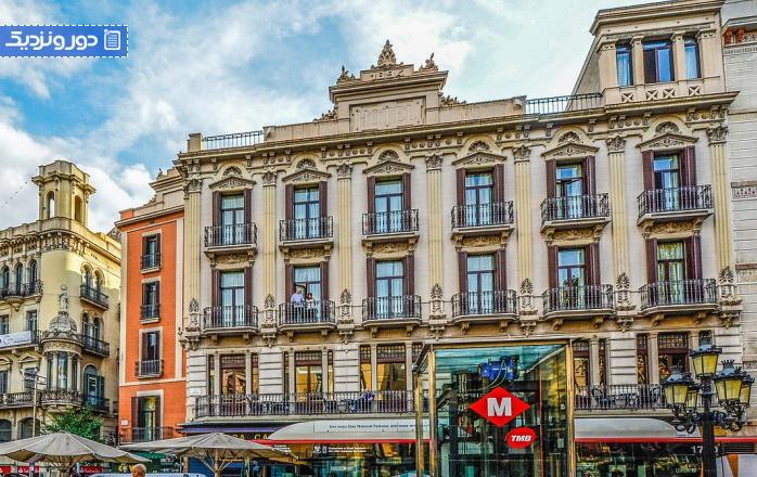 زیباترین خیابان های بارسلون