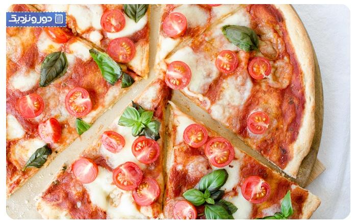 غذاهای ایتالیایی پیتزای ایتالیایی