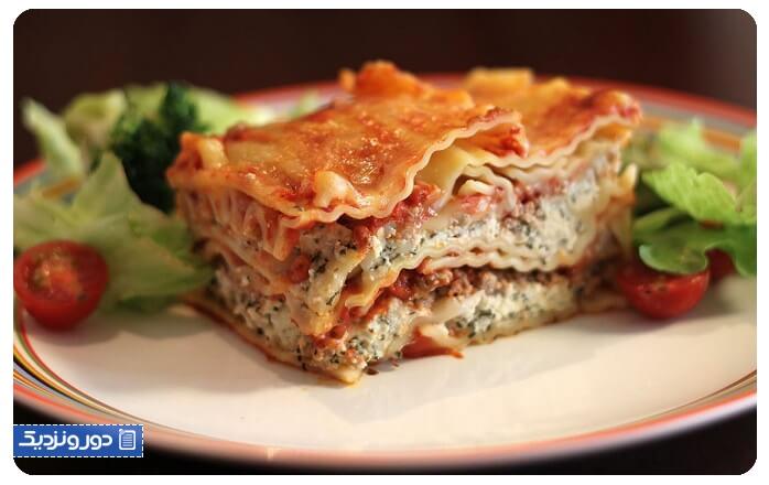غذاهای ایتالیایی لازانیا ایتالیایی
