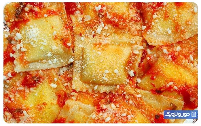 غذاهای ایتالیایی راویولی ایتالیایی