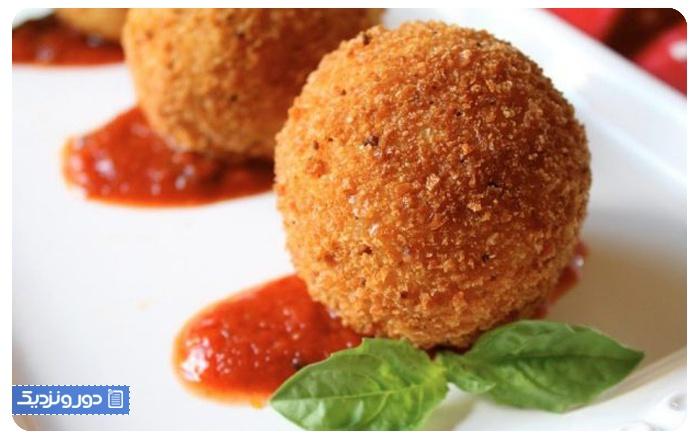 غذاهای ایتالیایی آرانچینی