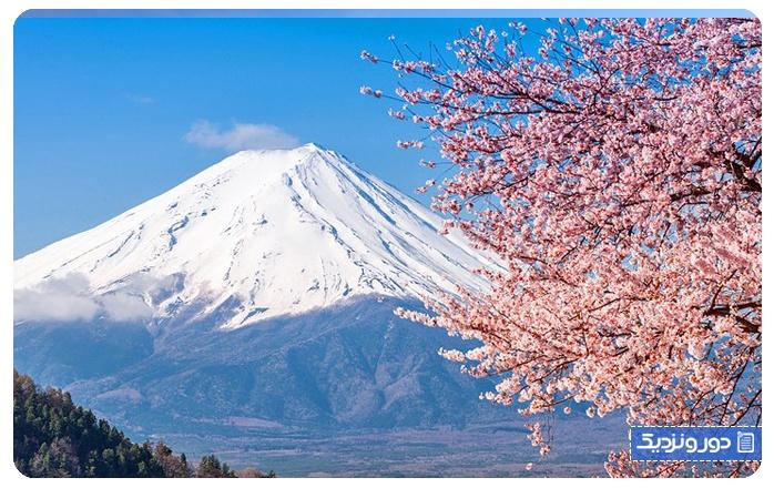 معروف ترین آتشفشان های ژاپن کوه فوجی