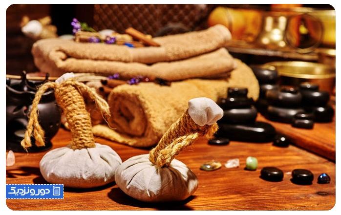 استفاده از خدمات ماساژ و طب سنتی
