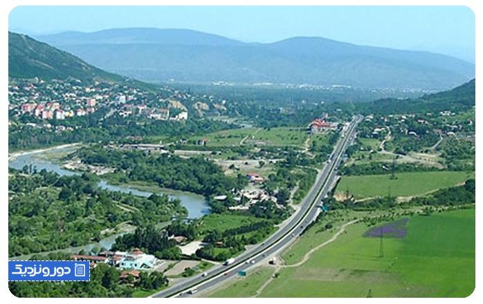 طول سفر زمینی به گرجستان